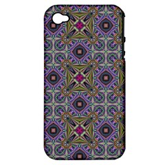Vintage Abstract Unique Original Apple iPhone 4/4S Hardshell Case (PC+Silicone)