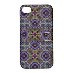Vintage Abstract Unique Original Apple iPhone 4/4S Hardshell Case with Stand