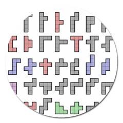 Hexominos Magnet 5  (Round)