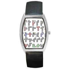 Hexominos Barrel Style Metal Watch