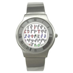 Hexominos Stainless Steel Watch