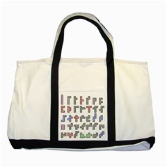 Hexominos Two Tone Tote Bag