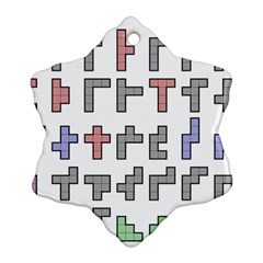 Hexominos Snowflake Ornament (Two Sides)