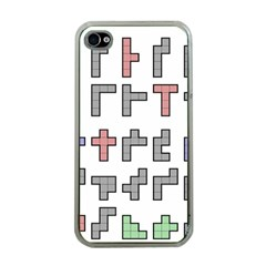 Hexominos Apple iPhone 4 Case (Clear)
