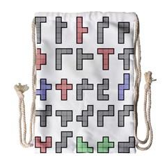 Hexominos Drawstring Bag (Large)