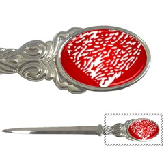 Heart Design Love Red Letter Openers