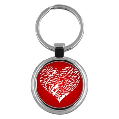 Heart Design Love Red Key Chains (round)