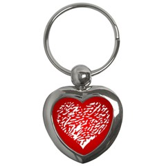 Heart Design Love Red Key Chains (Heart)