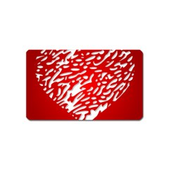 Heart Design Love Red Magnet (name Card)