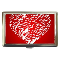 Heart Design Love Red Cigarette Money Cases