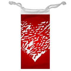 Heart Design Love Red Jewelry Bag