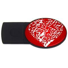 Heart Design Love Red USB Flash Drive Oval (4 GB)