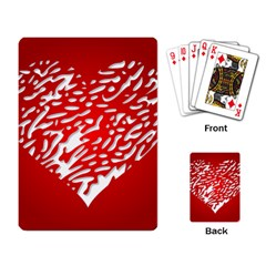 Heart Design Love Red Playing Card