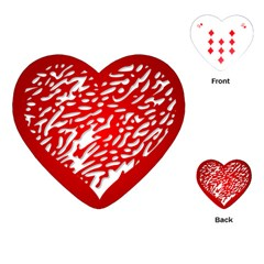 Heart Design Love Red Playing Cards (Heart)