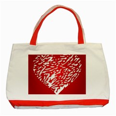 Heart Design Love Red Classic Tote Bag (Red)