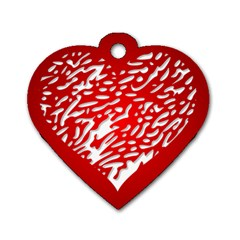 Heart Design Love Red Dog Tag Heart (one Side)