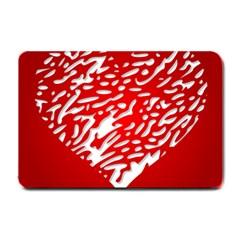 Heart Design Love Red Small Doormat