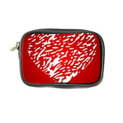Heart Design Love Red Coin Purse