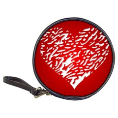 Heart Design Love Red Classic 20-CD Wallets