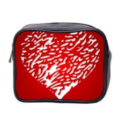 Heart Design Love Red Mini Toiletries Bag 2-Side