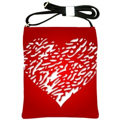 Heart Design Love Red Shoulder Sling Bags
