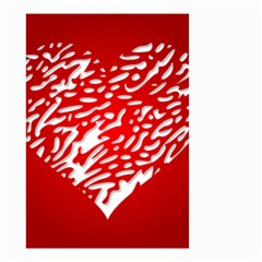 Heart Design Love Red Small Garden Flag (Two Sides)