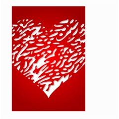 Heart Design Love Red Large Garden Flag (two Sides)