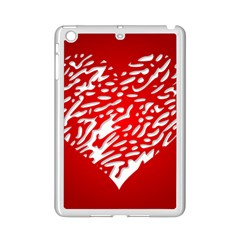 Heart Design Love Red iPad Mini 2 Enamel Coated Cases