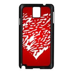 Heart Design Love Red Samsung Galaxy Note 3 N9005 Case (Black)