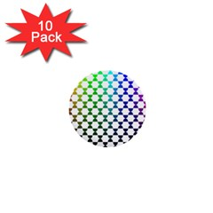 Half Circle 1  Mini Buttons (10 pack)