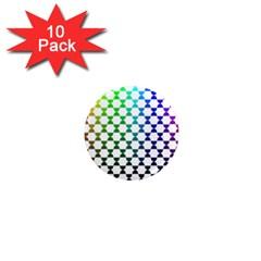 Half Circle 1  Mini Magnet (10 pack)