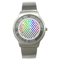 Half Circle Stainless Steel Watch