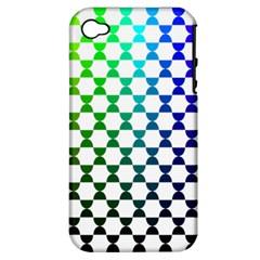 Half Circle Apple iPhone 4/4S Hardshell Case (PC+Silicone)