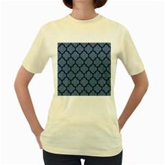 TIL1 BK-MRBL BL-DENM (R) Women s Yellow T-Shirt