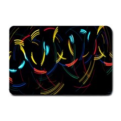Yellow Blue Red Arcs Light Small Doormat
