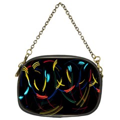 Yellow Blue Red Arcs Light Chain Purses (one Side)