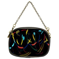 Yellow Blue Red Arcs Light Chain Purses (Two Sides)
