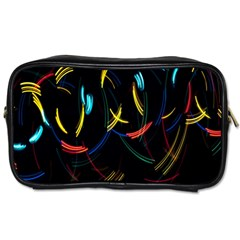 Yellow Blue Red Arcs Light Toiletries Bags