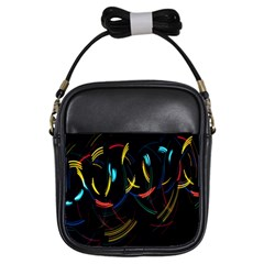 Yellow Blue Red Arcs Light Girls Sling Bags