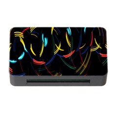Yellow Blue Red Arcs Light Memory Card Reader with CF