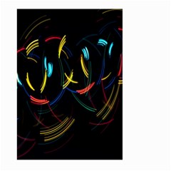 Yellow Blue Red Arcs Light Large Garden Flag (two Sides)