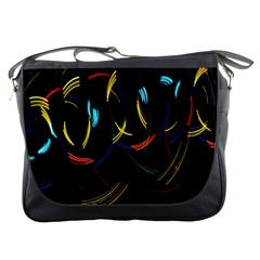 Yellow Blue Red Arcs Light Messenger Bags