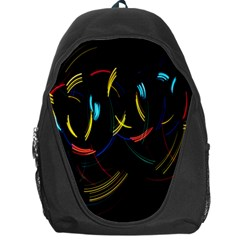 Yellow Blue Red Arcs Light Backpack Bag