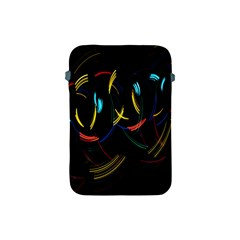 Yellow Blue Red Arcs Light Apple iPad Mini Protective Soft Cases
