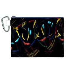 Yellow Blue Red Arcs Light Canvas Cosmetic Bag (XL)