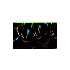 Yellow Blue Red Arcs Light Cosmetic Bag (XS)