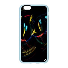 Yellow Blue Red Arcs Light Apple Seamless iPhone 6/6S Case (Color)