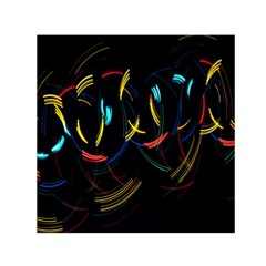 Yellow Blue Red Arcs Light Small Satin Scarf (Square)