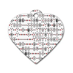Bioplex Random Kimia Circle Grey Red Dog Tag Heart (Two Sides)