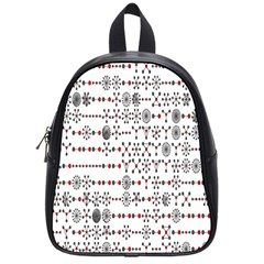 Bioplex Random Kimia Circle Grey Red School Bags (Small)
